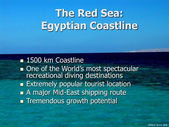 The red sea egyptian coastline