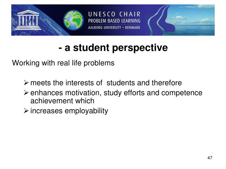 - a student perspective