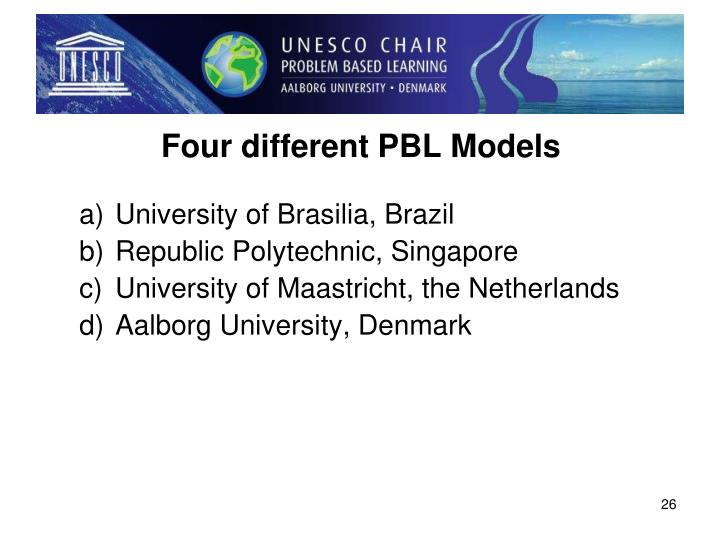 Four different PBL Models