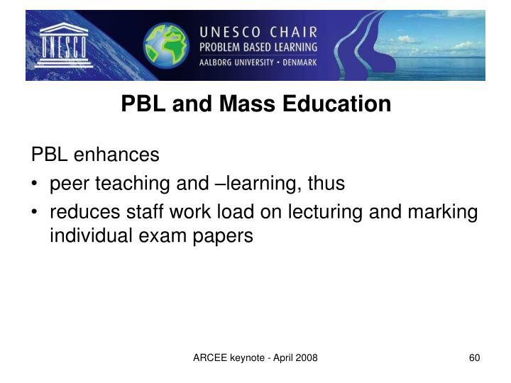 PBL and Mass Education