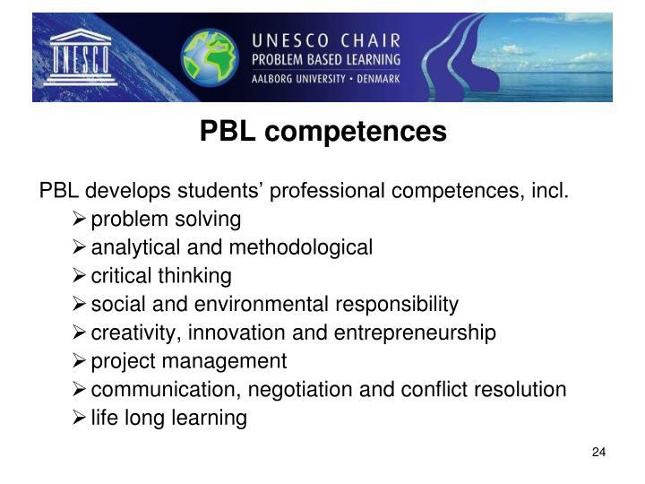 PBL competences