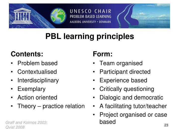 PBL learning principles