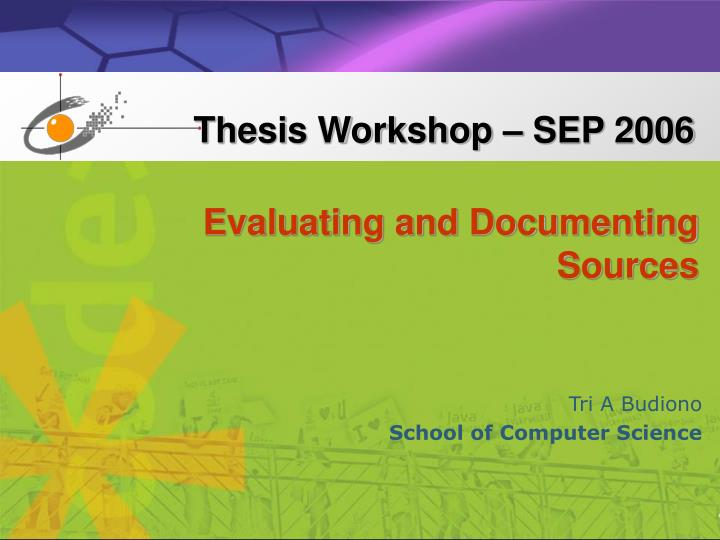 evaluating and documenting sources n.