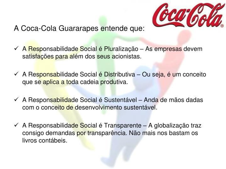 A Coca-Cola Guararapes entende