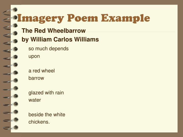 Imagery Poem Example