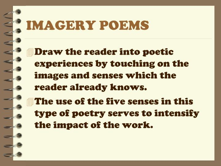 IMAGERY POEMS