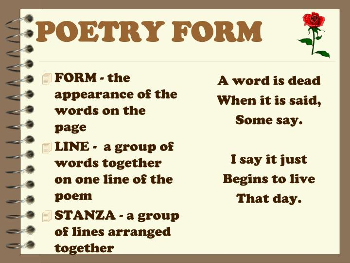 POETRY FORM