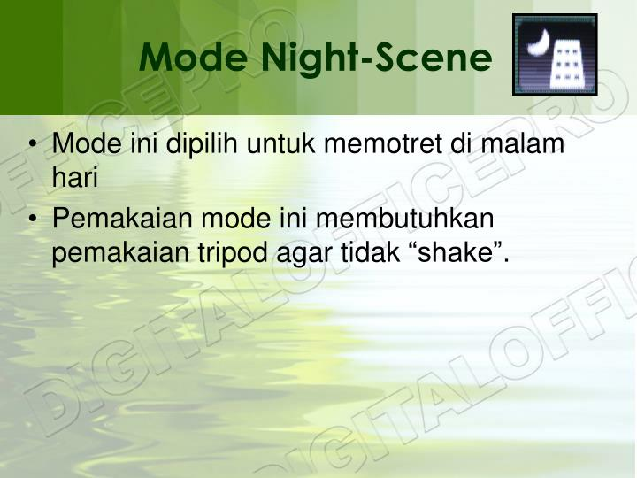 Mode Night-Scene