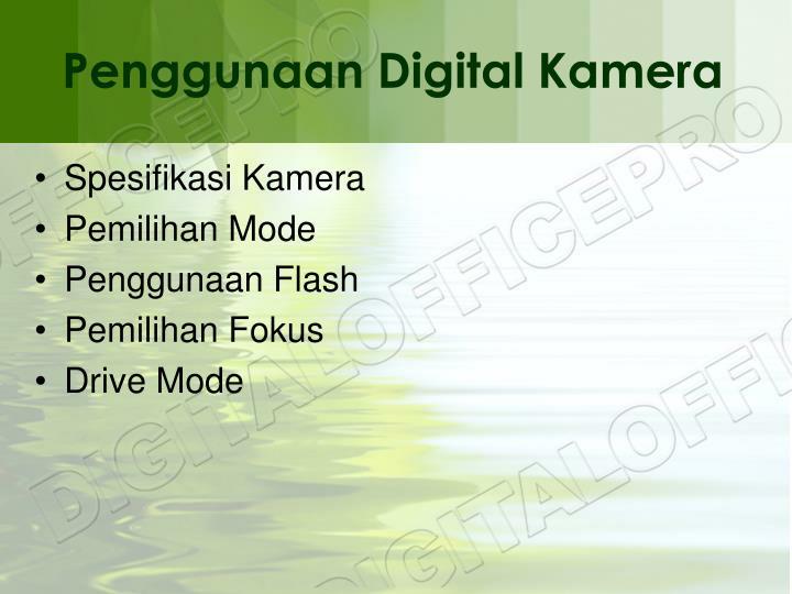 Penggunaan digital kamera