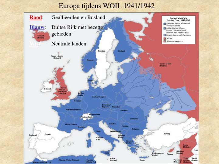 Europa tijdens WOII  1941/1942