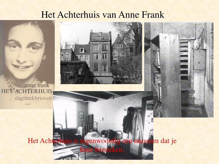 Het Achterhuis van Anne Frank