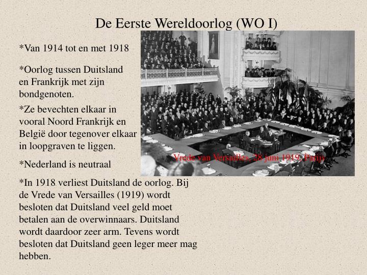 De Eerste Wereldoorlog (WO I)