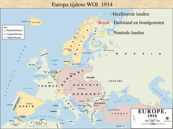 Europa tijdens WOI  1914
