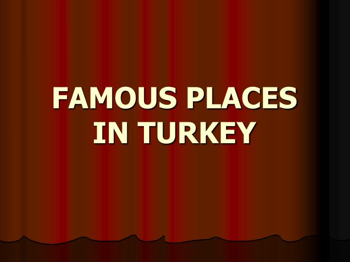 famous places in turkey n.