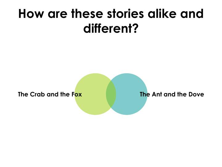How are these stories alike and different?