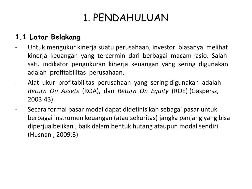 Ppt Proposal S K Ripsi P Engaruh Kinerja Keuangan Terhadap Return Saham Powerpoint Presentation Id 4061397