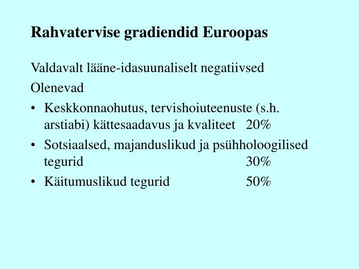 Rahvatervise gradiendid Euroopas