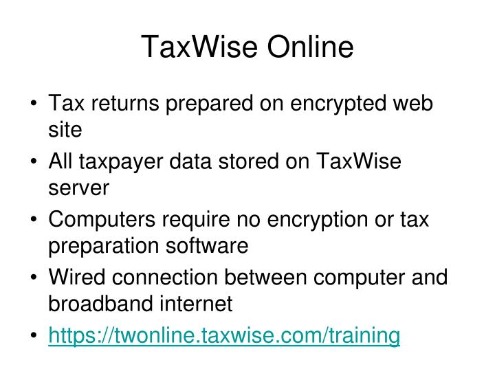 TaxWise Online