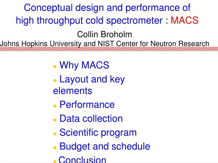 conceptual design and performance of high throughput cold spectrometer macs n.