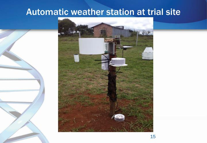 Automatic weather station at trial site