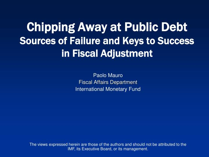 paolo mauro fiscal affairs department international monetary fund n.