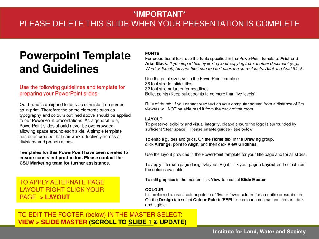 Ppt Powerpoint Template And Guidelines Powerpoint Presentation