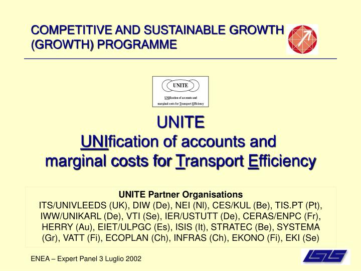 competitive and sustainable growth growth programme n.