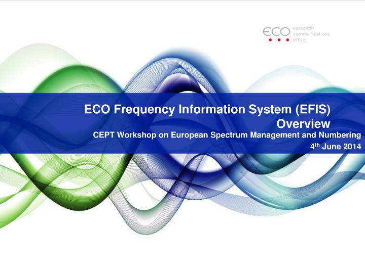 eco frequency information system efis overview n.