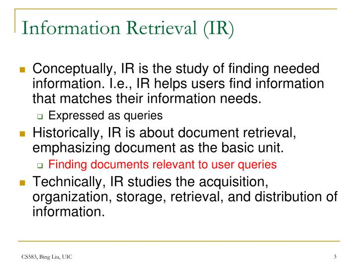 Information Retrieval (IR)