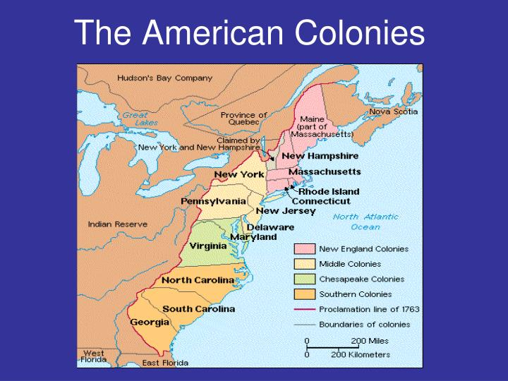 colonial america into three distinct regions