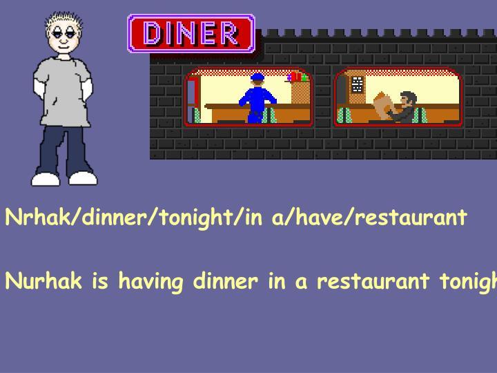 Nrhak/dinner/tonight/in a/have/restaurant