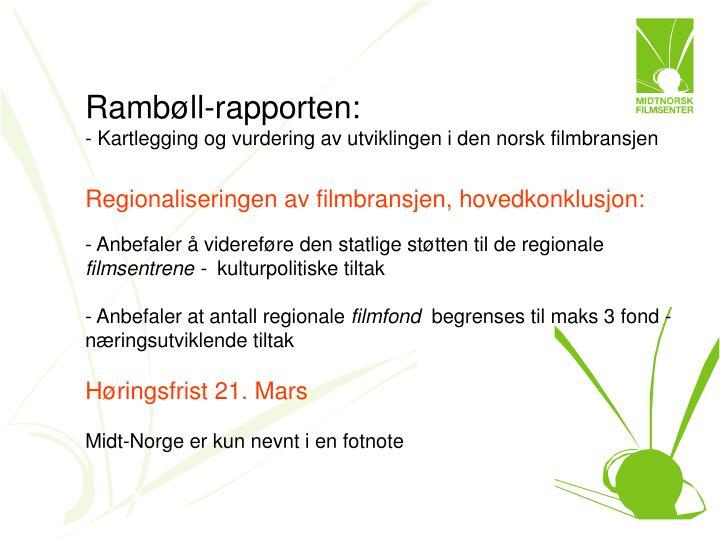 Rambøll-rapporten:
