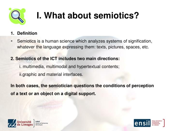 I. What about semiotics?