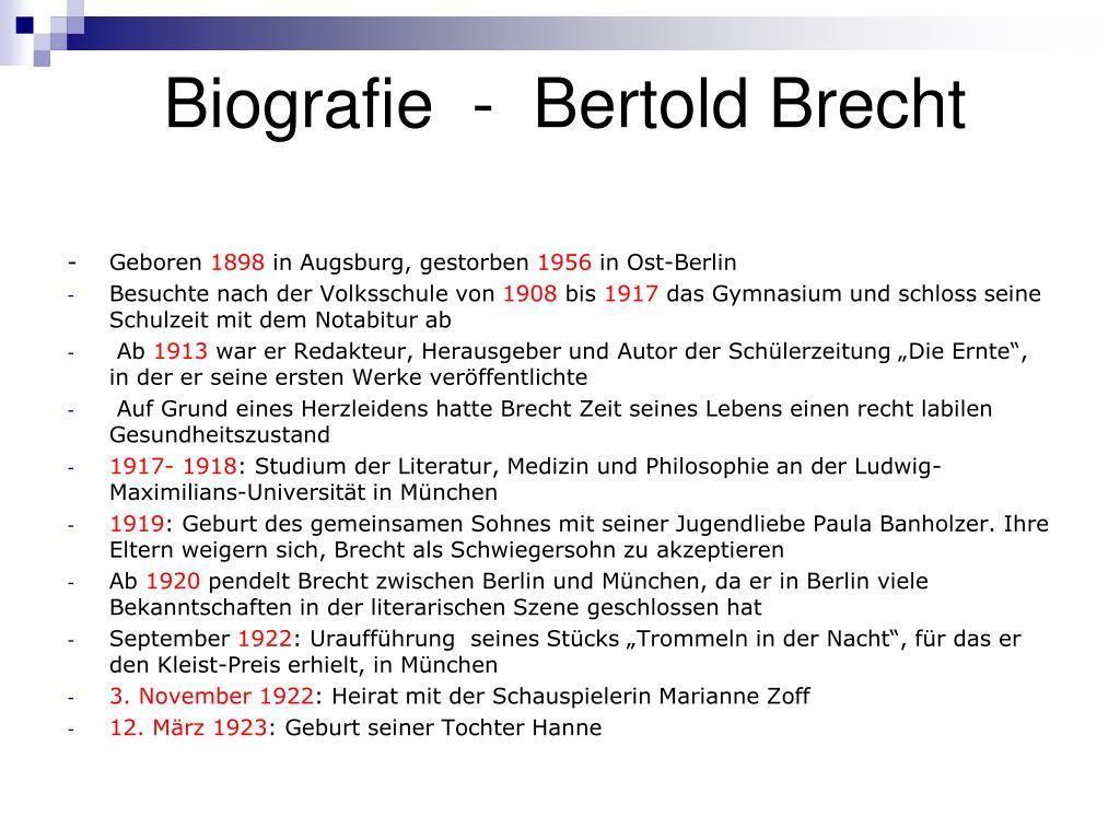 Lemo Biografie Biografie Bertolt Brecht 11