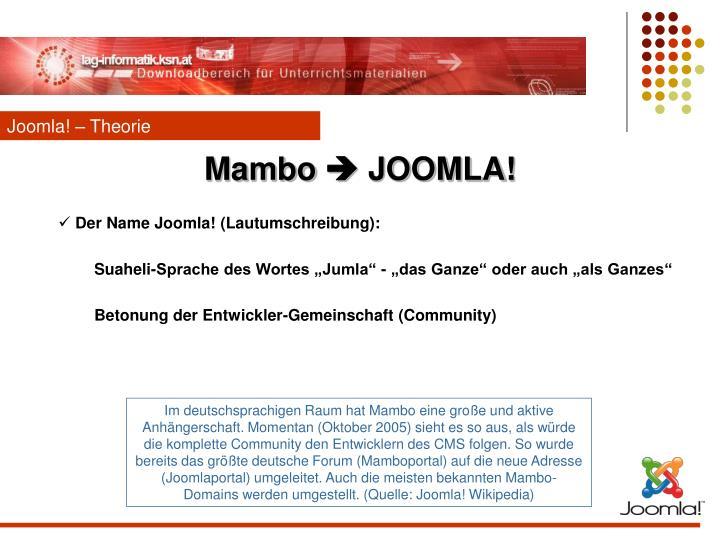 Joomla! – Theorie
