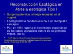 reconstrucci n esof gica en atresia esof gica tipo i3