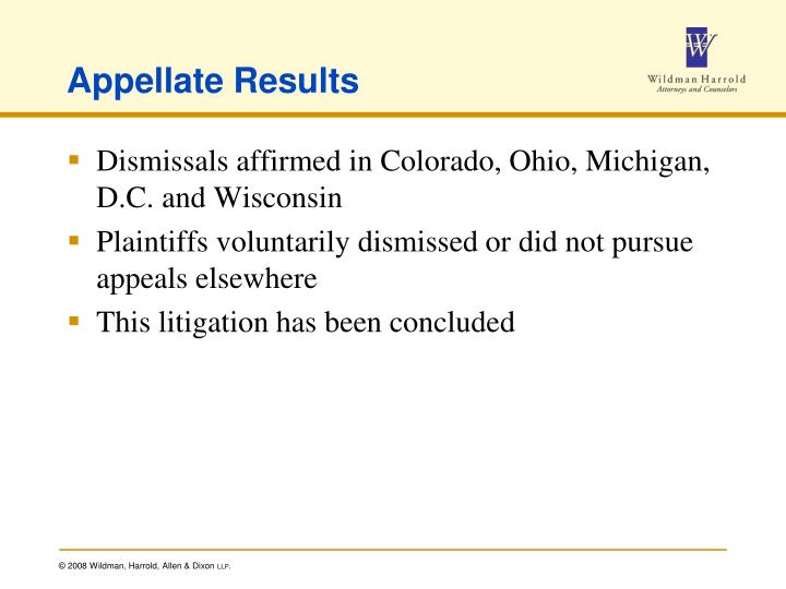 Appellate Results