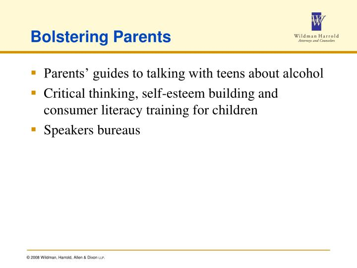 Bolstering Parents