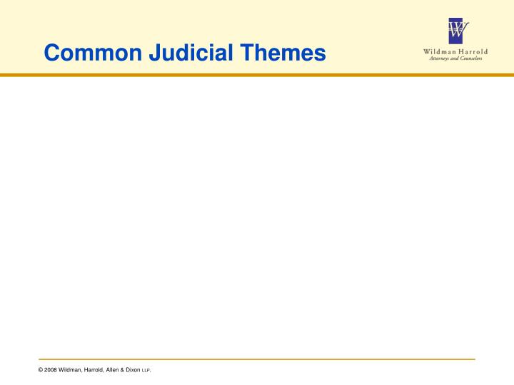 Common Judicial Themes