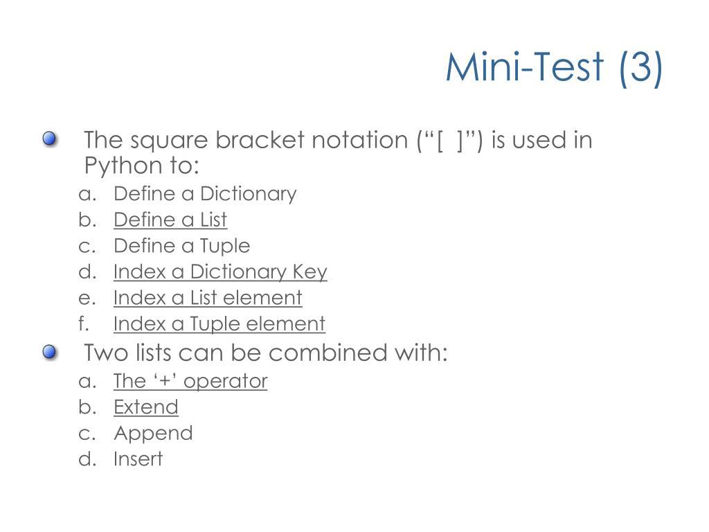 List notation python