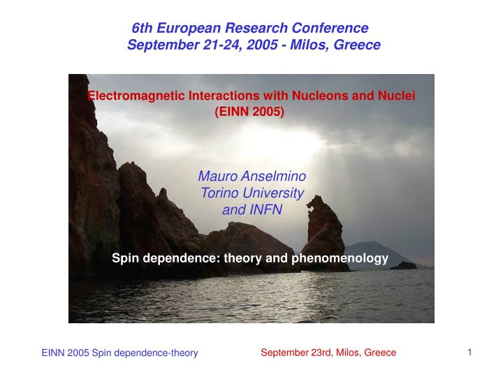 6th European Research Conference