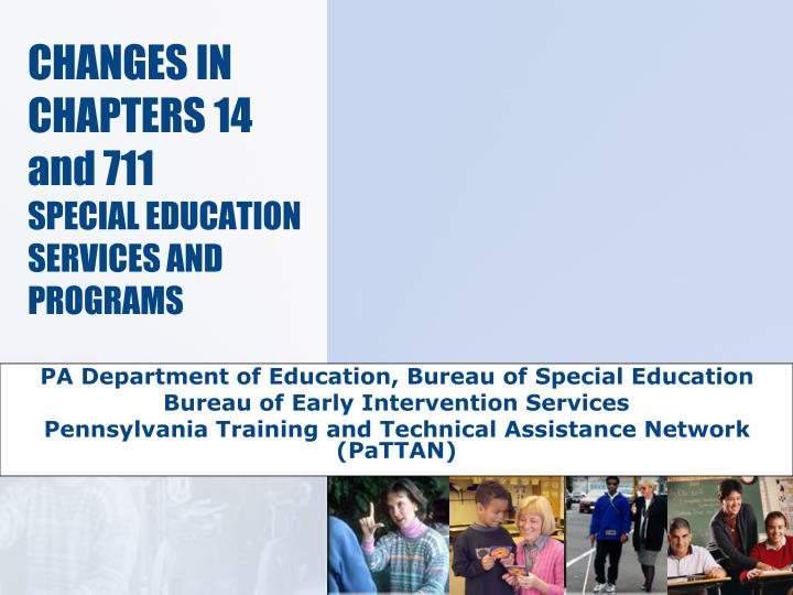 changes in chapters 14 and 711 special education services and programs n.