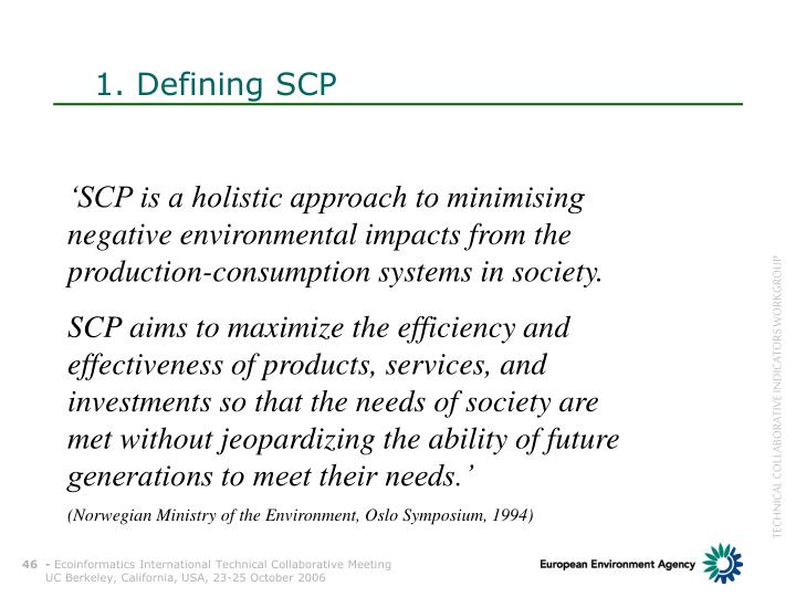 1. Defining SCP