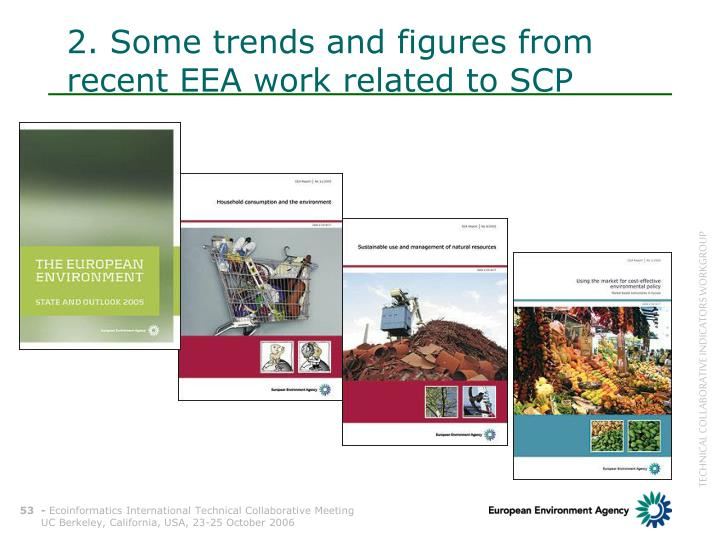 2. Some trends and figures from recent EEA work related to SCP