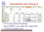 calculations from group 21