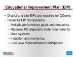 educational improvement plan eip