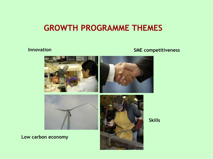 GROWTH PROGRAMME THEMES