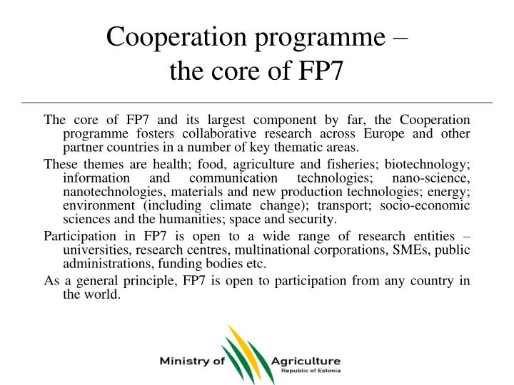 Cooperation programme –