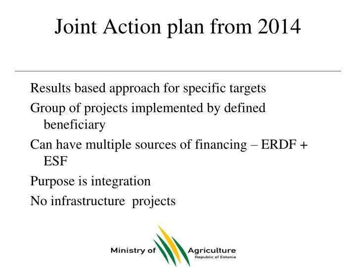 Joint Action plan from 2014