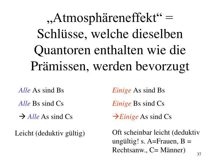 """""""Atmosphäreneffekt"""" ="""